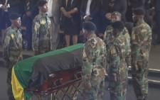 A screengrab of ANC stalwart Khabisi Mosunkutu's funeral service on 3 January 2019.