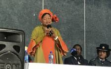 National Assembly speaker Baleka Mbete is delivering a keynote address at the National Healing Prayer. Picture: Clement Manyathela/EWN.