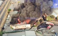 Johannesburg firefighters are battling a blaze at a glue factory in Kya Sand on 5 September 2018. Picture: Supplied