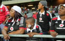 Orlando Pirates fans at the Orlando Stadium. Picture: Leeto M Khoza/EWN.