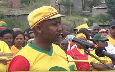 A YouTube screenshot of former secretary-general of the All Basotho Convention (ABC) Samonyane Ntsekele.