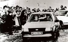 FILE: Lady Diana Spencer driving the silver 1.6L Ford Ghia saloon given to her by Prince Charles as an engagement present in May 1981. Picture: reemandansie.com