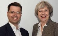 FILE: Northern Ireland Minister James Brokenshire with UK Prime Minister Theresa May. Picture: Twitter/@JBrokenshire