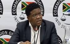 FILE: A screengrab of ANC head of elections Fikile Mbalula at the Zondo Commission on 22 March 2019.