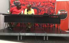Nehawu briefs the media on 24 November 2020 on its planned march over nonpayment of salary increases for public servants. Picture: Kgomotso Modise/EWN