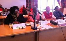 Sactwu leaders at a clothing industry bargaining council gathering in Cape Town on 2 September 2013. Picture: Rahima Essop/EWN