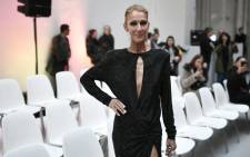 Canadian singer Celine Dion poses prior to the 2019 Spring-Summer Haute Couture collection fashion show by Alexandre Vauthier in Paris, on 22 January 2019. Picture: AFP