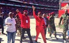 Economic Freedom Fighters (EFF) leadership arriving at the Orlando Stadium for the party's manifesto launch. Picture: Emily Corke/EWN.