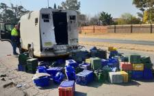 FILE: The scene of a cash-in-transit heist in Boksburg. Picture: Louise McAuliffe/EWN