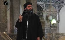 This file image grab taken on 5 July 2014 from a propaganda video released by al-Furqan Media allegedly shows the leader of the Islamic State (IS) jihadist group, Abu Bakr al-Baghdadi, aka Caliph Ibrahim. Picture: AFP