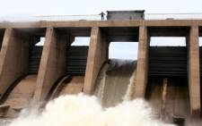 FILE: A mass of water being released through a sluice gate from the Vaal Dam. Picture: Supplied.