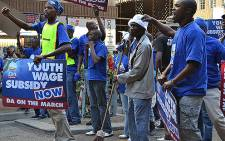 DA protests for the Youth Wage Subsidy. Picture: EWN