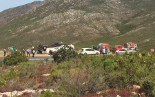 The scene of the tragic bus crash on Franschhoek Pass where three people are confirmed dead. Picture: Siyabonga Sesant/EWN