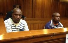 Sicelo Kwayimani and Mbongiseni Sithelo are accused of shooting dead Constable Rozelle Witbooi during a robbery last February. Picture: Lauren Isaacs/EWN.