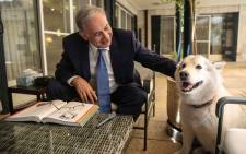 FILE: Isreali Prime Minister Benjamin Netanyahu posted a picture on Twitter in August urging dog-lovers to seek out adult canines to adopt. Picture: @netanyahu via Twitter.