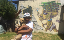 Nomar is one one the 17 residents who have let out her home for art exhibition #GraffitiArt. Picture: Masa Kekana/EWN
