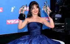 Camila Cabello with her MTV Video Music Awards (VMAs) on 20 August 2018. Picture: AFP