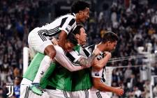 Juventus players celebrate a goal. Picture: @juventusfc/Twitter