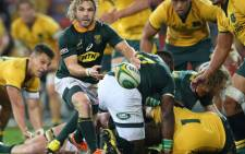 The Springboks get the ball wide during the Rugby Championship match against the Wallabies. Picture: @Springboks/Twitter