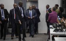 Former President Jacob Zuma arrives at the state capture commission on 16 July 2019. Picture: Abigail Javier/EWN