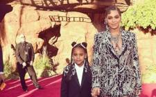 Beyonce and Blue Ivy Carter at the US premiere of 'The Lion King'. Pictyre: Beyonce/Instagram