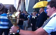 WP captain, Deon Fourie with the Currie Cup trophy in 2012.