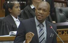 DA Leader Mmusi Maimane during the tabling of the motion of no confidence in Parliament, 1 March 2016. Picture: Youtube