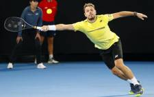 Switzerland's Stanislas Wawrinka plays a forehand return to Canada's Milos Raonic during their men's singles match on day four of the Australian Open tennis tournament in Melbourne on 17 January 2019. Picture: AFP