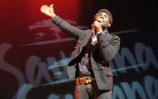Tlhologelo Makweya brought brought his best humour to the stage during his five minute debut at the Soweto Theatre. Photo: Louise McAuliffe/EWN