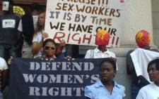 Sex Workers Education and Advocacy Taskforce (Sweat) protesters. Picture: EWN