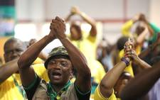 FILE: ANC members celebrate as the party's new top six is announced at the 54th national conference on 18 December 2017. Picture: Sethembiso Zulu/EWN.