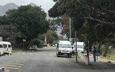 Hout Bay Main Road following a shooting at a taxi rank on 1 April 2019. Picture: Shamiela Fisher/EWN.