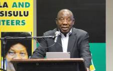FILE: President Cyril Ramaphosa addresses ANC delegates at the party's manifesto consultative workshop on 25 June 2018. Picture: @MYANC/Twitter.