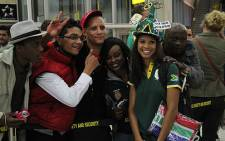 South Africa women's hockey team captain Marsha Marescia, poses for photographs before her departure to the London. Picture: Taurai Maduna/EWN