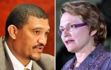 Marius Fransman and Western Cape Premier Helen Zille. Picture: Sapa/EWN