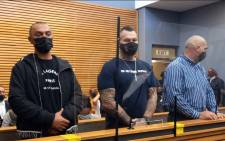 Alleged crime underworld figure Nafiz Modack (L) and Zane Kilian (C) in court on 14 May 2021. Picture: Kevin Brandt/Eyewitness News.