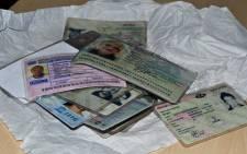 A stash of licences found in Salt River. Picture: Aletta Gardner/EWN