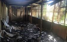 Students allegedly set buildings alight at the Vaal University of Technology's Vanderbijlpark campus on 11 May 2016. Picture: Ziyanda Ngcobo/EWN.