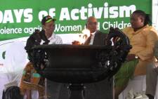 President Jacob Zuma launched this year's 16 Days of Activism for No Violence against Women and Children campaign in Reiger Park on 25 November 2014 Picture: Vumani Mkhize/EWN.