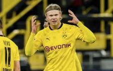 Borussia Dortmund's Erling Braut Haaland on 9 March 2021. Picture: @BlackYellow/Twitter.