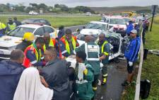 Head-on crash N2 south Umgababa where one person died and two have been injured. Picture: Twitter @Netcare911_sa.