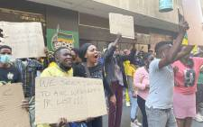 ANC members from Gauteng and Limpopo protest outside Luthuli House in Johannesburg on 15 September over allegations of rigging in the process to nominate candidates to stand as ANC councillors in the upcoming local government elections. Picture:  Veronica Mokhoali/Eyewitness News