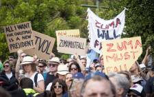FILE: Protesters gathered at Cape Town's Company Gardens to show their support for the #ZumaMustFall movement on 16 December 2015. Picture: Aletta Harrison/EWN.