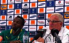 Bafana captain Bongani Khumalo and coach Gordon Igesund. Picture: Lelo Mzaca/EWN