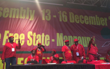 The EFF leadership at the top table. Picture: Govan Whittles/EWN