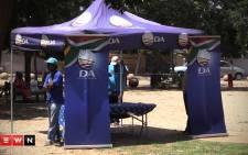 DA member and businessman Herman Mashaba campaigns in Soweto. Picture Kgothatso Mogale/EWN