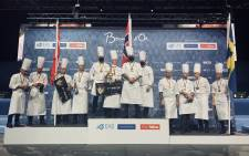 Norwegian chefs celebrate their win in the European round of the Bocuse d'Or competition on 16 October 2020. Picture: @Bocusedor/Twitter