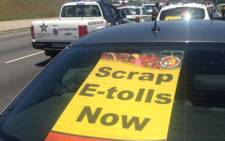 FILE: Motorists during an e-toll go slow. Picture: Sebabatso Mosamo/EWN.