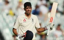 FILE: England's Alastair Cook celebrates unbeaten double-century during the third day of the fourth Ashes cricket Test match. Picture: @englandcricket/Twitter.