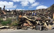 FILE: The aftermath of a shack fire. Picture: Natalie Malgas/EWN.